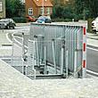 Planforsænket dørkpladedæksel til brolagt midterrabat