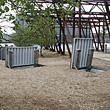 Planforsænket dørkpladedæksel til grusbelagt parkområde