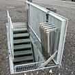 Planforsænket dørkpladedæksel med Cicol/Dynagrib belægning over trappenedgang