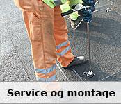 Service og montage